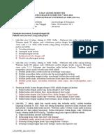 Soal Ujian Akhir Semester Anestesiologi dan Reanimasi Angkatan 2008+Jawaban