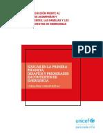 Educar en la Primera Infancia.  Desafíos y prioridades en contextos de emergencia. OMEP y UNICEF