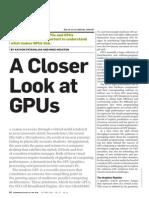 A Closer Look at GPUs