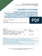 _AFGC CTP 152.03B-19 Recipients Isoles PU Pour Stockage CO2 Et N2O