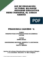 ENFOQUE DE EDUCACIÓN INTERCULTURAL BILINGÜE