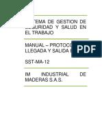 SST-MA-12 PROTOCOLO DE LLEGADA Y SALIDA EN IM-fusionado