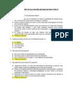 CUESTIONARIO EVALUACION EN EDUCACION FISICA
