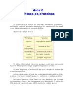 Biologia - Aula 08 - Síntese de proteínas