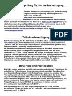 Deutsche Sprachprüfung Für Den Hochschulzugang