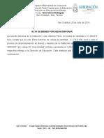 ACTA PARA DESINCORPORAR DE LA ESCUELA