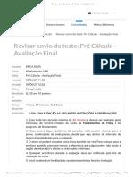 Teste_ Pré Cálculo - Avaliação Final – ..