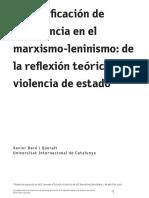 Baro i Queralt, Xavier_Justificacion Violencia Marxismo_2020
