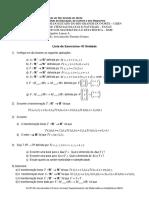 3ª Lista de Álgebra Linear A