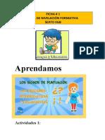 FICHAS DE LENGUA Y LITERATURA SEXTO - copia