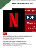 Conheça Todos Os Códigos Secretos Para Encontrar Filmes e Séries Na Netflix