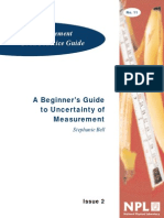 mgpg11- A Beginner's Guide  to Uncertainty of Measurement by Stephanie Bell