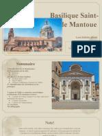 Analyse Architecturale de la Basilique Sant'Andrea de Mantoue.