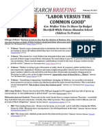 """LABOR VERSUS THE COMMON GOOD"""