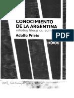 Prieto, Adolfo - Conocimiento de la Argentina. Estudios literarios reunidos