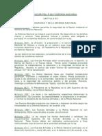 CONSTITUCIÓN POLÍTICA Y DEFENSA NACIONAL