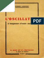 L Oscillateur - Georges Lakhovsky 1934