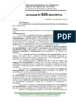 ACUERDO DE CONCEJO apaoyo economico A VILL DE MANTA