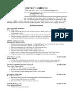 Jeff Simpson's Resume