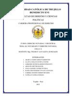 EL NOTARIADO Y DERECHO NOTARIAL - TRABAJO