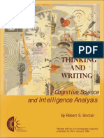 Cognitive Science and Intelligence Analysis by Robert S. Sinclair