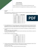 Estadística Guía de ejercicios