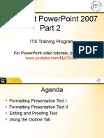 PowerPoint Tutorials - Formatting Presentations