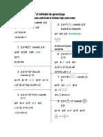 actividad de matematicas VI