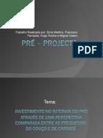 Pré Projecto