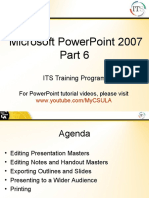 PowerPoint Tutorials - Slide Master, Outlines, and Handouts