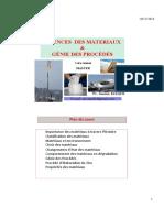 Sciences Des Materiaux Et Génie Des Procédés [Mode de Compatibilité] (Récupération Automatique)