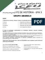 Avaliação p2 de História - 6ºa3 - Amarelo