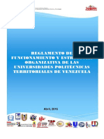Reglamento universidades