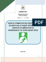 GUIDE DU FACILITATEUR ANJE POUR LES PRESTATAIRES DE SANTE_BURKINA FASO