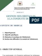 Module 5. GESTION DES OBSTACLES A LA CONDUITE DE L'AME