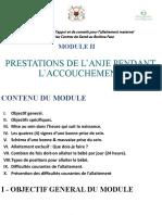 Module 2. PRESTATIONS DE L'ANJE PENDANT L'ACCOUCHEMENT