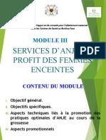 Module 3. Services d'ANJE Aux Profit Des Femmes Enceintes - Copie