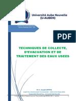 Techniques de Collecte & Traitement Des Eaux Usées ISIG L2 EHA 2016