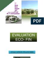 Evaluation Financière Et Economique Tramway de Constantine Résumé
