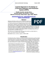 A Multi-Layered Approach to the Design of Intelligent Intrusion Detection and Prevention System (IIDPS) - Vol.6 (2009) - IISITv6p631-647Awodele541
