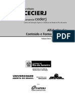 LIPEAD - ALFABETIZAÇÃO 1 - CONTEUDO E FORMA