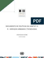 DOCUMENTO DE POLÍTICAS DA HABITAT III 9 – SERVIÇOS URBANOS E TECNOLOGIA