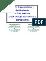 Guide de Reconstitution Et d Utilisation Des Drogues Injectables-2