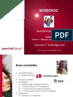 BIMBDK02 - Week 3 - Thema 5 - Bestuurs- en managementstijlen