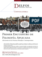 Convocatoria-Primer Encuentro De Filosofía Aplicada