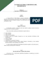 Regolamento Comunale per la Disciplina del Referendum - Civitanova Marche