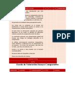 Pauta de evalución ensayo comparativo