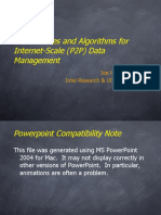 Architectures and Algorithms for Internet-Scale (P2P) Data Management by Joe Hellerstein