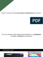 Teatro Relación Arte - Eduación Las _imágenes_ como instrumentos de investigación