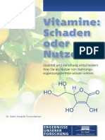 Broschuere Vitamine Schaden Oder Nutzen